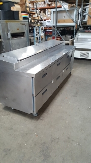 Delfield Six Drawer Pizza Prep Table