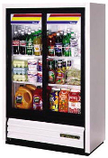 "True 36"" Glass Door Low Height Refrigerator/Merchandiser"
