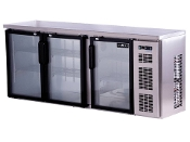 SPARTAN BACK BAR  COOLER WITH  3 GLASS DOORS (NEW)