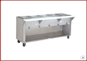 Supreme Metal HF-3E. 3 Hole steam Table