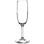 Libbey 8595SR 6 oz. Bristol Valley Sheer Rim Flute Glass