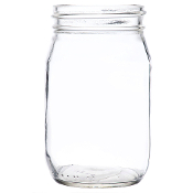 Libbey 92103 Glass Drinking / Mason Jar without Handle